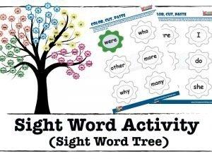 Sight word-tree-activity