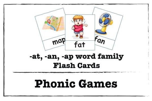 at an ap word family flash cards phonics game